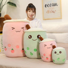 Load image into Gallery viewer, Pink and Green Bubble Tea Plushies