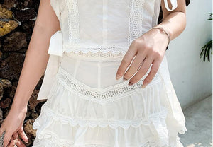 White Two Piece Top + Shorts
