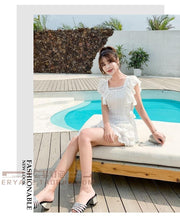 Load image into Gallery viewer, White Two Piece Top + Shorts