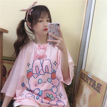 Load image into Gallery viewer, Harajuku Bunny Graphic T-Shirt