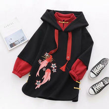 Load image into Gallery viewer, Koi Fish Long Hoodie
