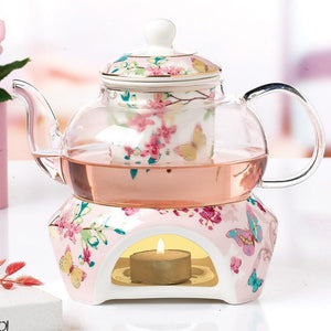 Glass Tea Pot with Tea Stove