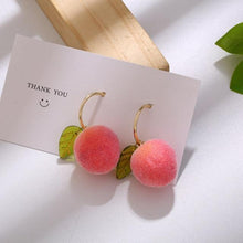 Load image into Gallery viewer, Peach Earrings