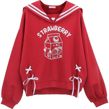 Load image into Gallery viewer, Strawberry Milk Sailor Sweatshirt
