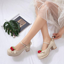 Load image into Gallery viewer, Princess Lolita Strawberry Mary Jane Shoes