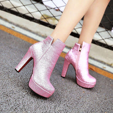 Load image into Gallery viewer, Glitter Ankle Boots