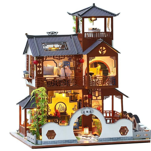Chinese Pavilion Dollhouse Kit