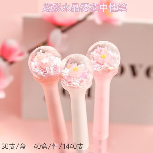 1PC Crystal Ball Sakura Gel Pen