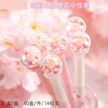 Load image into Gallery viewer, 1PC Crystal Ball Sakura Gel Pen