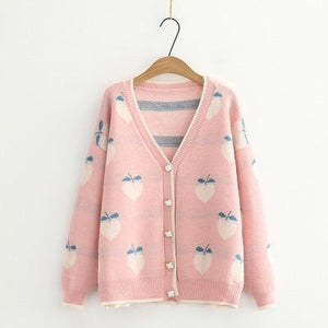 Autumn Peach Cardigan