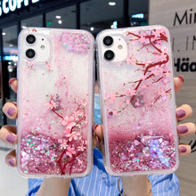 Load image into Gallery viewer, Sakura Glitter Phone Case