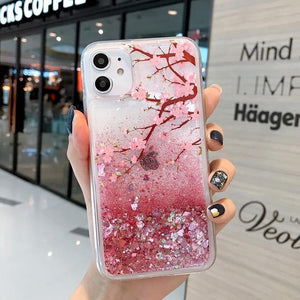 Sakura Glitter Phone Case