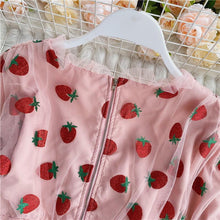 Load image into Gallery viewer, Strawberry V Neck Blouse