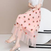 Load image into Gallery viewer, Strawberry Embroidered Skirt