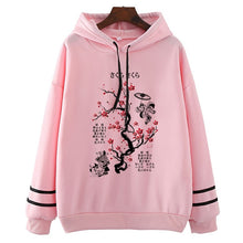 Load image into Gallery viewer, Ink Painting Cherry Blossom Hoodie