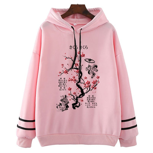 Ink Painting Cherry Blossom Hoodie