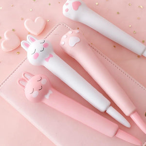 Soft Rabbit and Paw Gel Pens