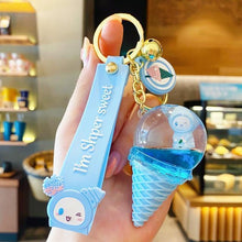 Load image into Gallery viewer, Crystal Ice Cream Keychain