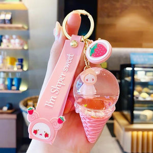 Crystal Ice Cream Keychain
