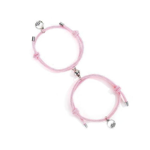 2pcs Couples Magnetic Attraction Bracelets