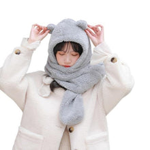 Load image into Gallery viewer, Cute Bear Hat Scarf
