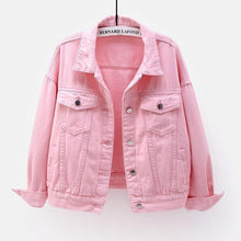 Load image into Gallery viewer, Pink Denim Jacket