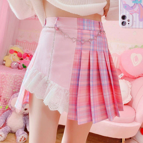 Harajuku Patchwork Skirt