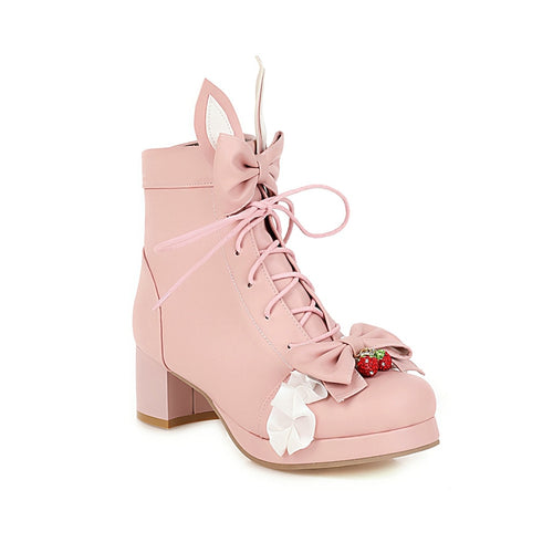 Strawberry Bunny Lolita Shoes
