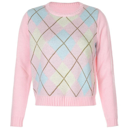 Argyle Crew Neck Jumper