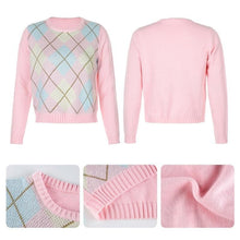 Load image into Gallery viewer, Argyle Crew Neck Jumper