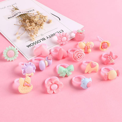 20Pcs Mixed Kawaii Rings