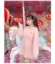 Load image into Gallery viewer, Bunny Ears Sweater Dress