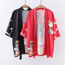 Load image into Gallery viewer, Fortune Cat Kimono