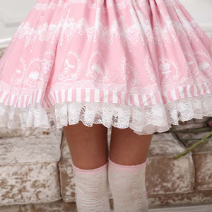 Sweet Lolita Chandelier Print Skirt