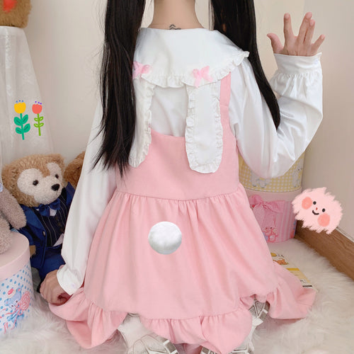 2pc Usagi Suspender Dress