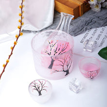 Load image into Gallery viewer, Frosted Plum Blossom Sake Set