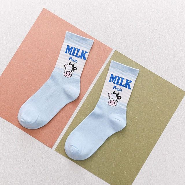 Kawaii Fruit and Milk Socks