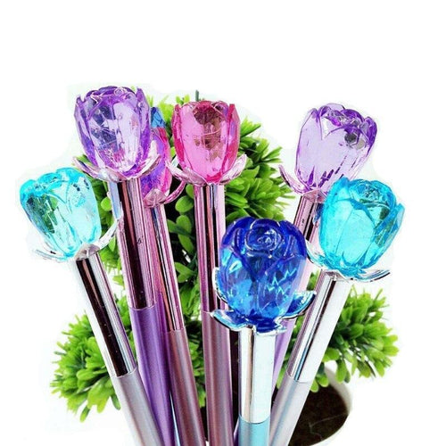 Crystal Flower Gel Pen