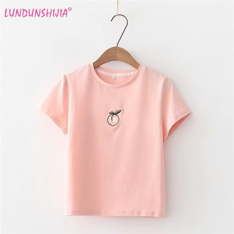 Cute Cotton Peach T-shirt