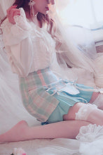 Load image into Gallery viewer, Plaid Princess Lolita Skirt With Garter belt
