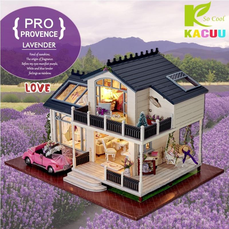 2018 DIY Doll Houses Wooden Casa Unisex Dollhouse De Boneca Dolls Houses Kids Toy Furniture Miniature Crafts Constructor Gifts - Kawaii-Crafts.com