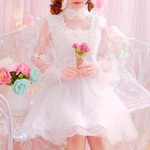 Pearl Bow Knot Tulle Dress