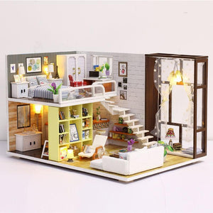 Doll House Miniature Dollhouse With Furniture Kit Wooden House Miniaturas Toys For Children New Year Christmas Gift - Kawaii-Crafts.com