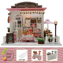 Load image into Gallery viewer, Cutebee Doll House Furniture Miniature Dollhouse DIY Miniature House Room Box Theatre Toys for Children Casa DIY Dollhouse M - Kawaii-Crafts.com