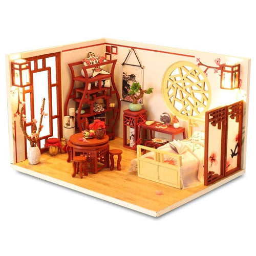 Kids Toys Diy Dollhouse Assemble Wooden Miniaturas Doll House Furniture Miniature Dollhouse Puzzle Educational Toys For Children - Kawaii-Crafts.com