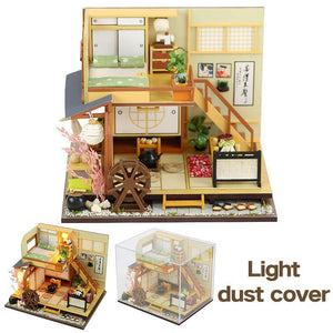DIY Wooden Doll Houses Miniature Dollhouse Japanese Style Double Layer Loft Doll House  Furniture Kit Toy for Kids Birthday Gift - Kawaii-Crafts.com