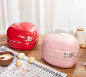 Pink Heart Electric Smart Rice Cooker
