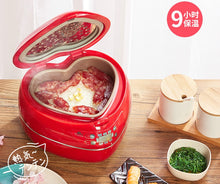 Load image into Gallery viewer, Pink Heart Electric Smart Rice Cooker