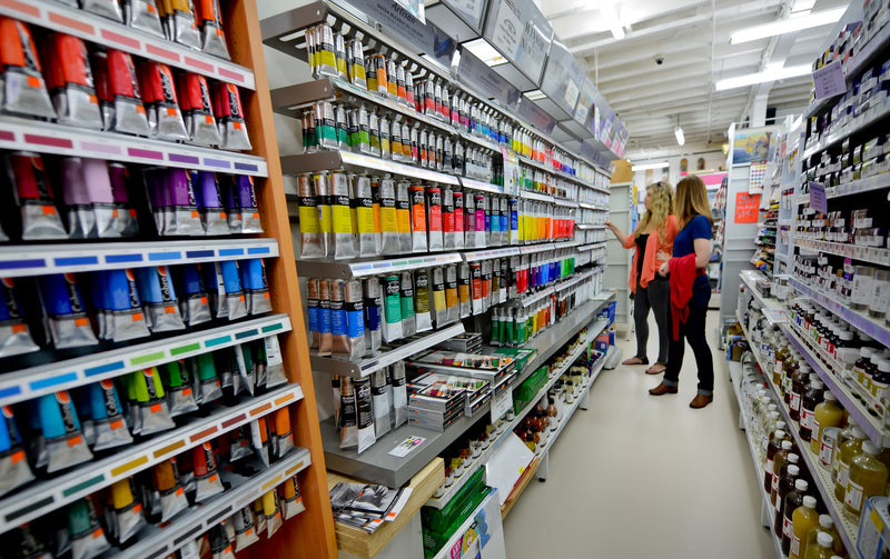 Art Shed Brisbane Store Paint Aisle
