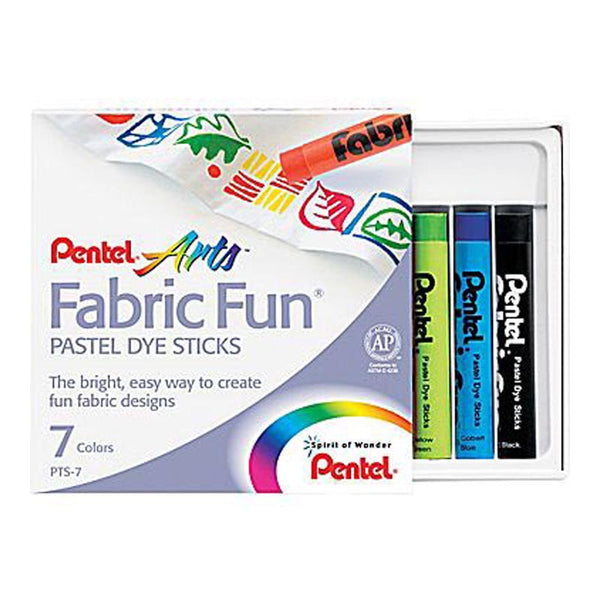 Pentel Fabric Fun Pastel Dye Sticks Pkt 7
